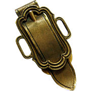 Gilt Brass textured Belt Buckle Paper Clip