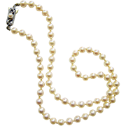 Mikimoto Saltwater Akoya Pearl Necklace with Sterling Clasp