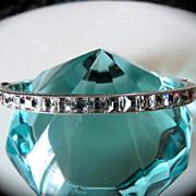 Deco Sterling Crystal Rhinestone Bracelet Bangle