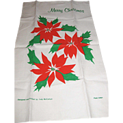 Large Linen Christmas Towel