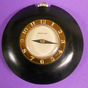 Bakelite Art Deco Purse Clock