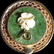 Vintage 12k Gold Filled Serpentine Filigree Circle Brooch