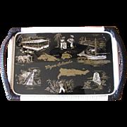 Vintage Virgin Islands Souvenir Handled Serving Tray