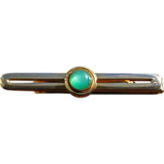 Vintage Swank Green Moonglow Tie Clip