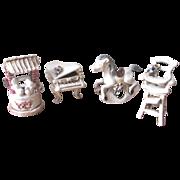 SALE Vintage 1950's Italian Porcelain Nursery Figurines - Set of 4