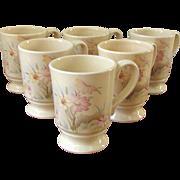 SALE Vintage 1960's Ceramic FPC Floral Mugs
