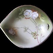 Vintage PSAG Schonwald Floral Handled Side Dish Bavaria