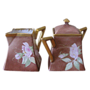 Antique 1890's Limoges Delinieres and Cie Sugar and Creamer Set