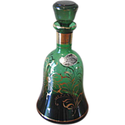 Vintage Rossini Emerald Green Empoli Glass Decanter