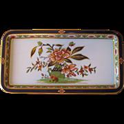 Vintage Daher Floral Painted Metal Serving Tray