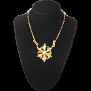 Vintage 1940's Goldtone Bow Choker Necklace
