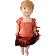 SOLD All Bisque Antique German Girl marked 296