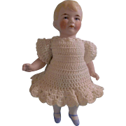 "SALE 5-3/4"" All Bisque German Heavy Hertel Schwab Doll with boo boo"