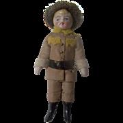 SALE All Bisque Miniature German Soldier Doll in Original Uniform c1900 ~ Pre-Holiday Sale ...