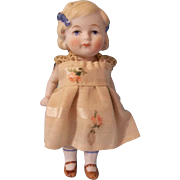 "SALE Darling Limbach German All Bisque 4-3/4"" Doll"