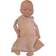SALE Vintage Schackman Bisque Head Baby Doll to Dress