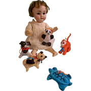 Miniature Vintage Crochet Toys for your Special Doll