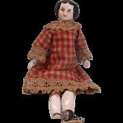 Sweet Tiny Dollhouse Size Civil War Era Flat Top or High Brow Shoulder Head China ...
