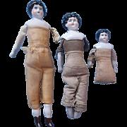 3 China Head Dolls Need TLC - Dolls for Repair Restoration or Parts