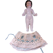 "SALE Lovely 4-1/4"" Antique Frozen Charlotte Doll"