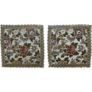 SALE Pair of Beautiful Vintage Large Scale Brocade Doll House Rugs