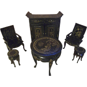 SALE Beautiful Vintage Asian Dollhouse Furniture for your Miniature Dolls