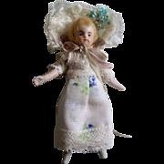 "Sweet Vintage German 4"" Dollhouse Doll"