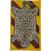 Wonderful Leopard Pelt Dollhouse Rug - Choice of Golden Yellow or Blue
