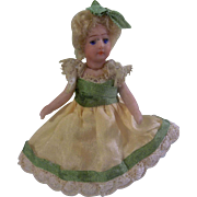 "SOLD Beautiful SFBJ Antique All Bisque 2-1/2"" French Lilliputian Girl"