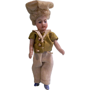 """SALE Handsome 2-1/2"""" All Bisque French Lilliputian Boy"""