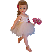 SOLD Graceful 1958 Cissette Ballerina #813 in Satin White Tutu - SUMMER SALE!
