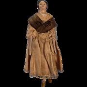 Primitive Antique Milliner's Model Doll Paper Mache Face - Glove Leather Body - Wood Limbs ...