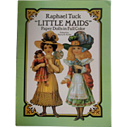 "SALE Vintage Paper Dolls in Full Color - Raphael Tuck ""Little Maids"" ~ Pre-Holiday S"