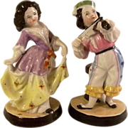 Fabulous Pair of Porcelain Figurines