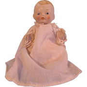 "Vintage 5"" All Bisque Baby with Chubby Rosy Cheeks"