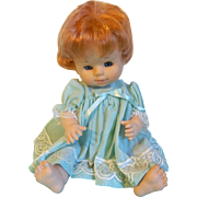 SALE Adorable Vintage Red Head Famosa Vinyl Doll from Spain
