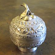 Antique Chinese Silver Apple Shape Box, Circa 1890