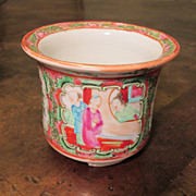 Chinese Export Rose Medallion Cache Pot, Circa 1920