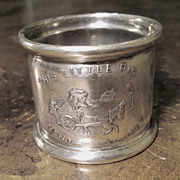 Silver Plate Nursery Rhyme Napkin Ring, Circa 1900