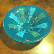 Mid Century Higgins Fused Art Glass Bowl, Circa 1960