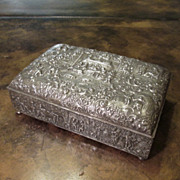 Silver Plate Repousse Box By Barbour S.P. Co., Circa 1910