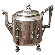 Victorian Silver Plate Reed & Barton Teapot, Circa 1870