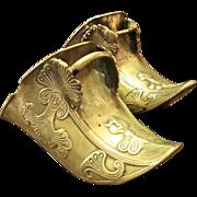 Antique Pair Of Brass Conquistador Stirrups