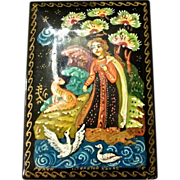 Vintage Hand Painted Russian Lacquer Box