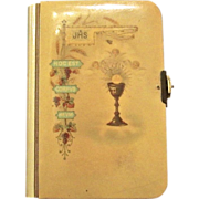 """Vintage Celluloid Child's Prayer Book, """"The Key Of Heaven"""", 1905"""