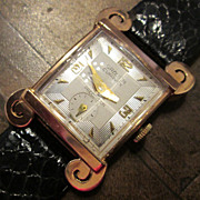 Vintage Gruen Curvex 18K Gold Men's Watch, Circa 1945