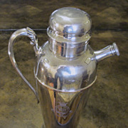 SOLD Vintage Silver Plate Cocktail Shaker