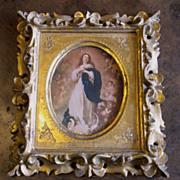 SOLD Vintage Florentine Religious Print In Gilt Frame