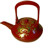 Beautiful High Quality Japanese Lacquer Kettle Makie Sakura Mother of Pearls-Tea pot