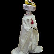 Large Japanese Doll Traditional Wedding Kimono Dress Shinto Wedding Gofun Doll